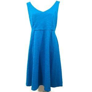 Torrid Textured Skater Fit and Flare Blue Dress
